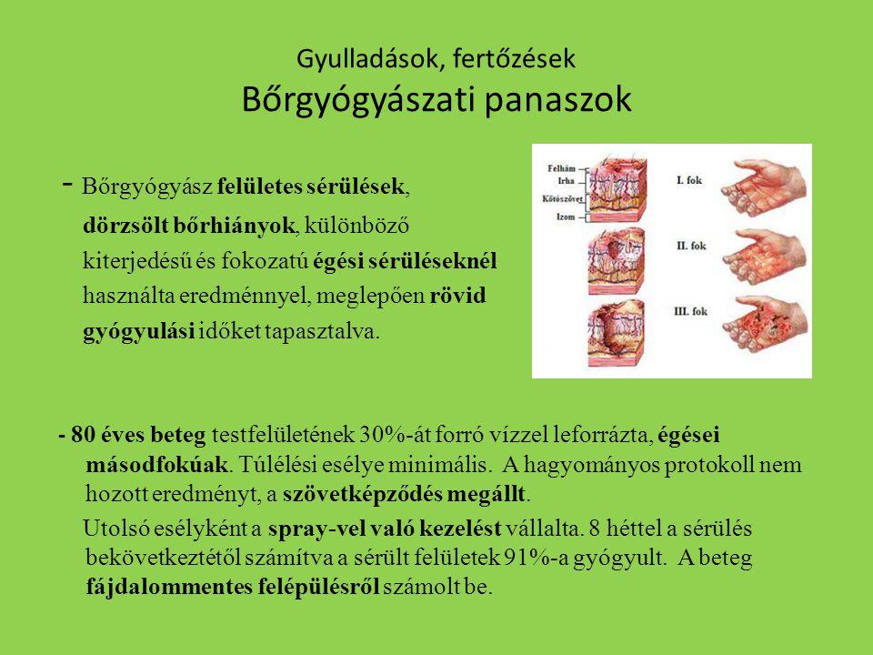 Gyulladások, fertőzések Bőrgyógyászati panaszok