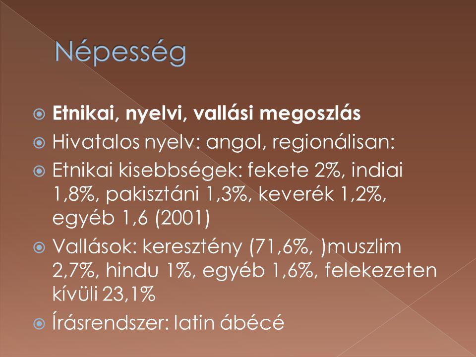 Népesség Etnikai, nyelvi, vallási megoszlás