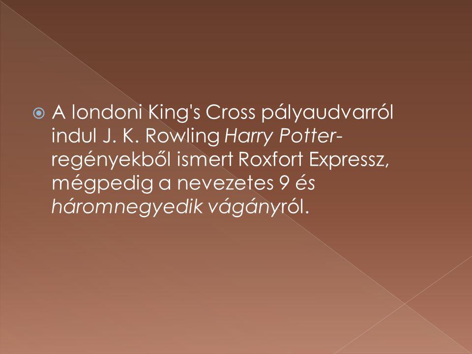 A londoni King s Cross pályaudvarról indul J. K
