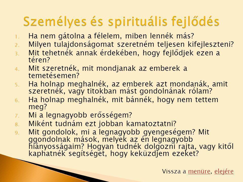 Személyes és spirituális fejlődés
