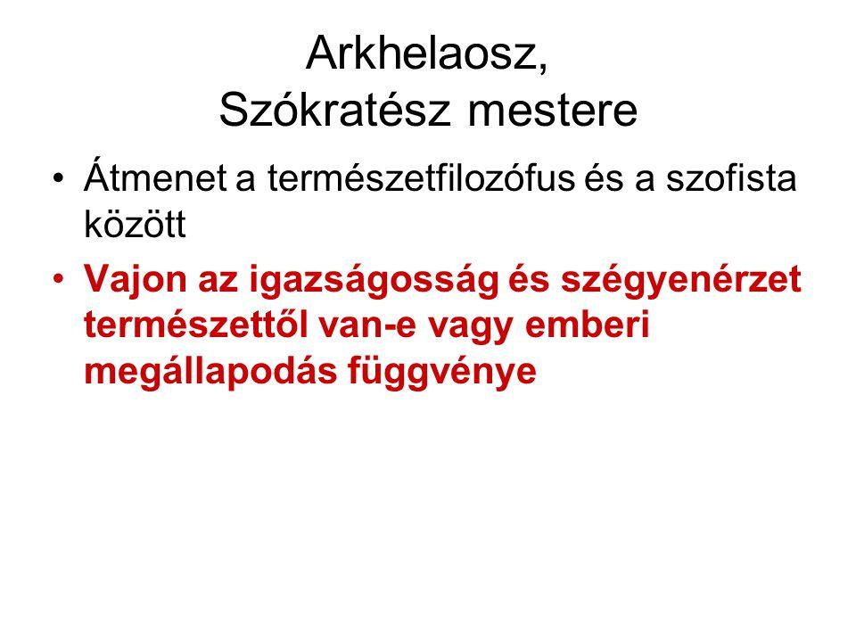 Arkhelaosz, Szókratész mestere
