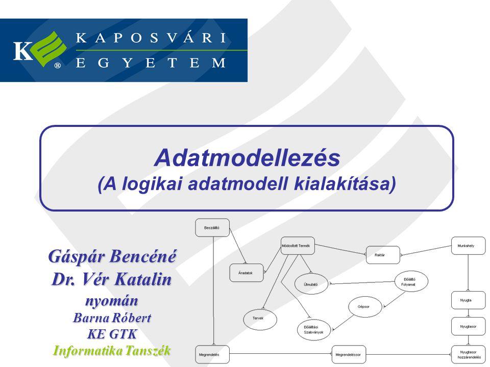 (A logikai adatmodell kialakítása)