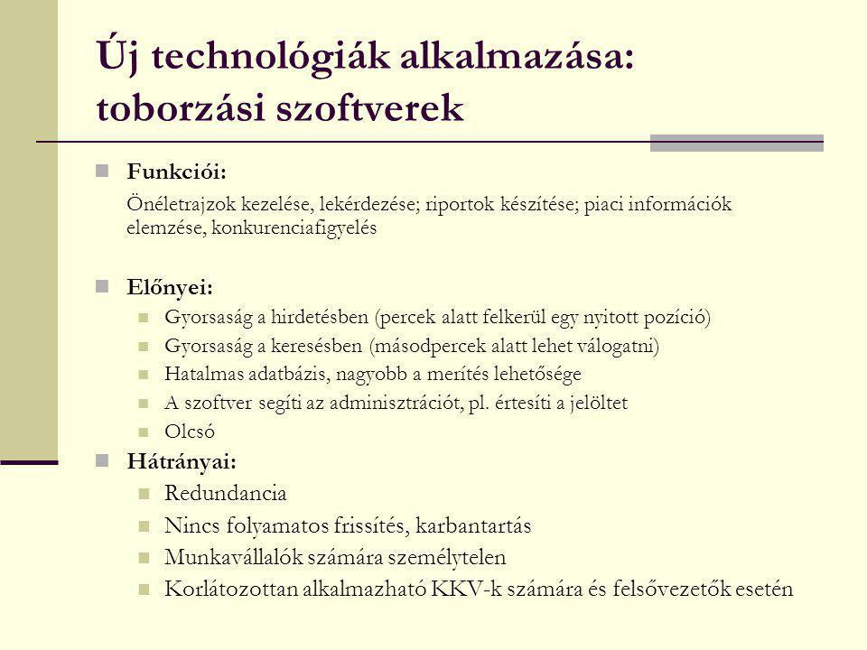 Új technológiák alkalmazása: toborzási szoftverek