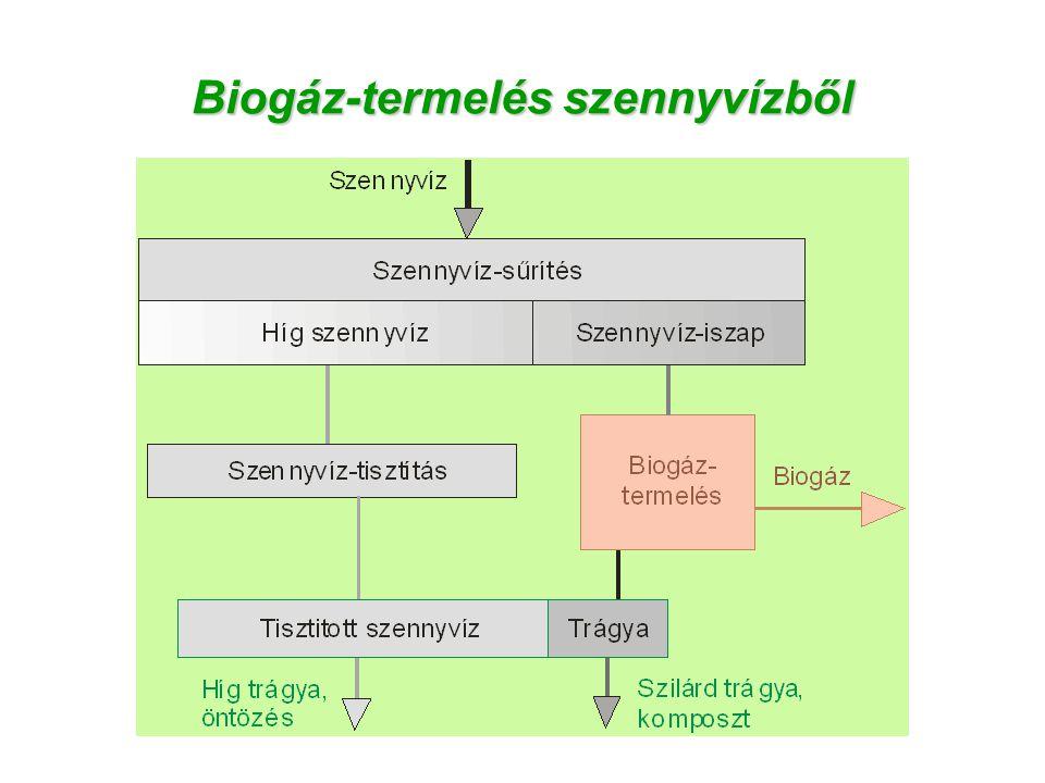 Biogáz-termelés szennyvízből