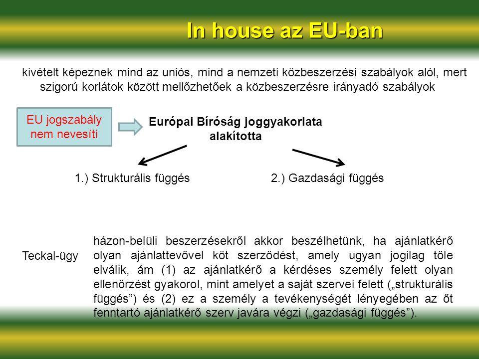 Európai Bíróság joggyakorlata alakította