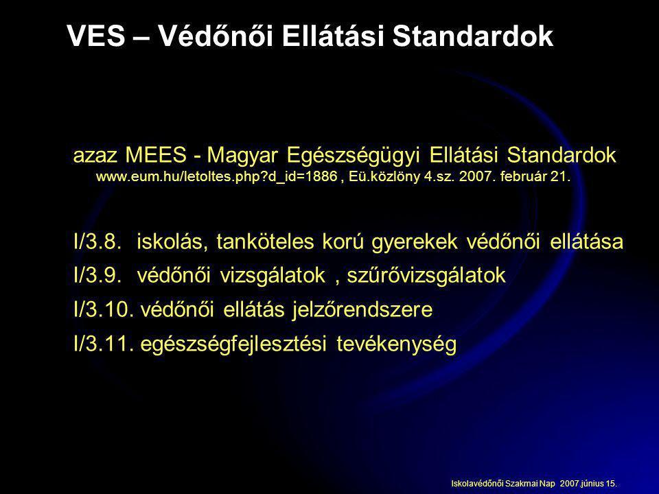 VES – Védőnői Ellátási Standardok