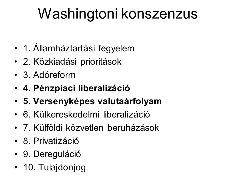 Washingtoni konszenzus
