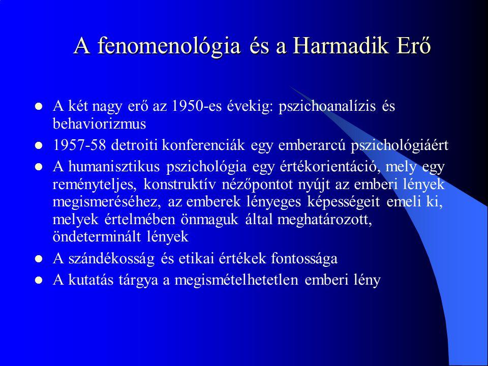A fenomenológia és a Harmadik Erő