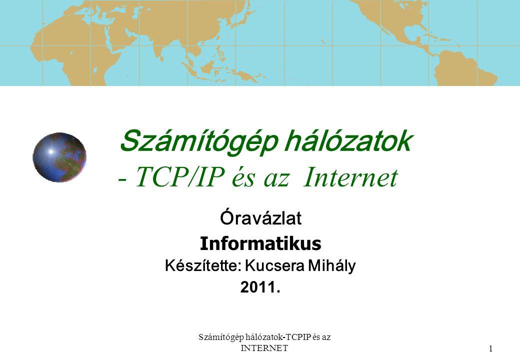 Számítógép hálózatok - TCP/IP és az Internet