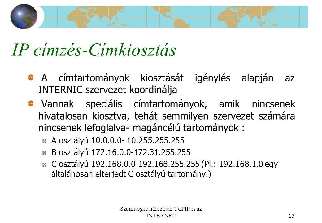 IP címzés-Címkiosztás