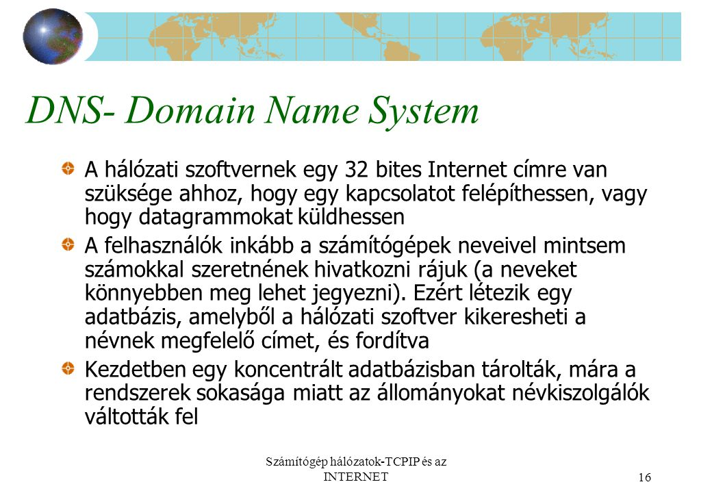 DNS- Domain Name System