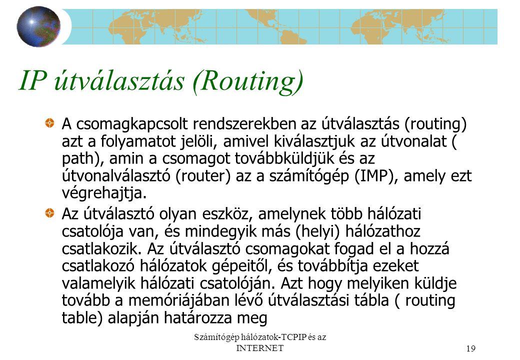 IP útválasztás (Routing)