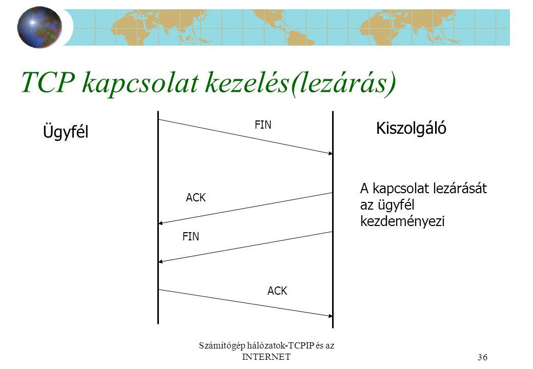TCP kapcsolat kezelés(lezárás)