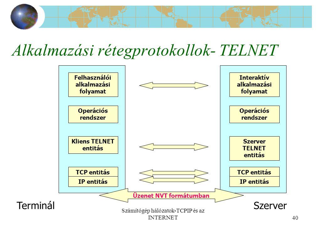 Alkalmazási rétegprotokollok- TELNET