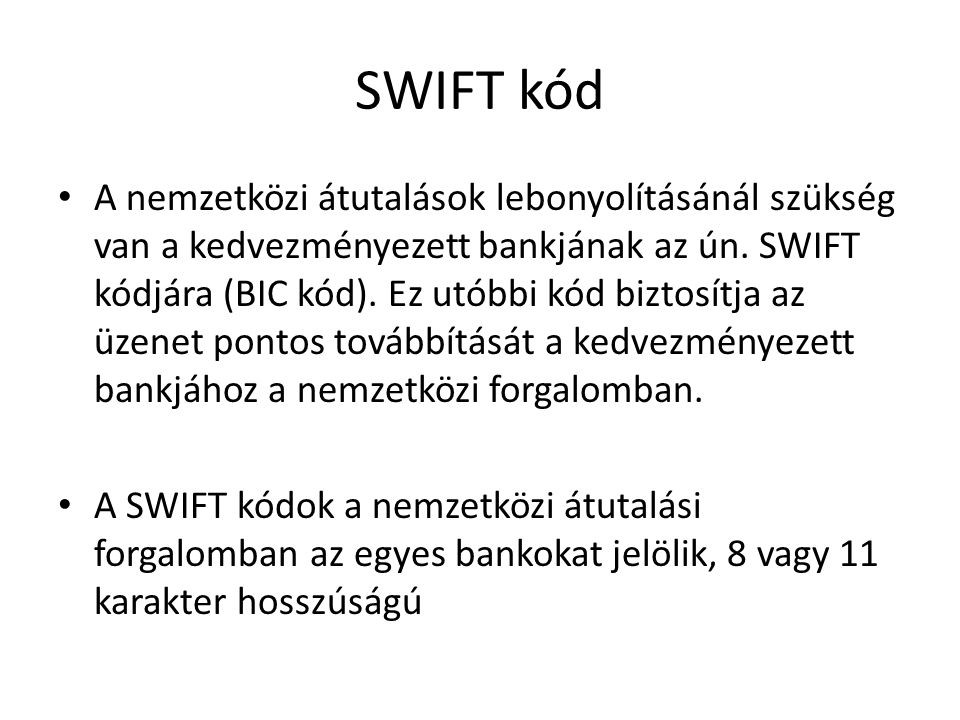 SWIFT kód