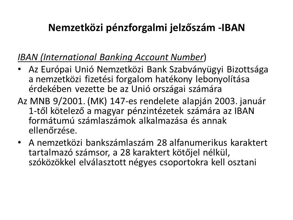 Nemzetközi pénzforgalmi jelzőszám -IBAN