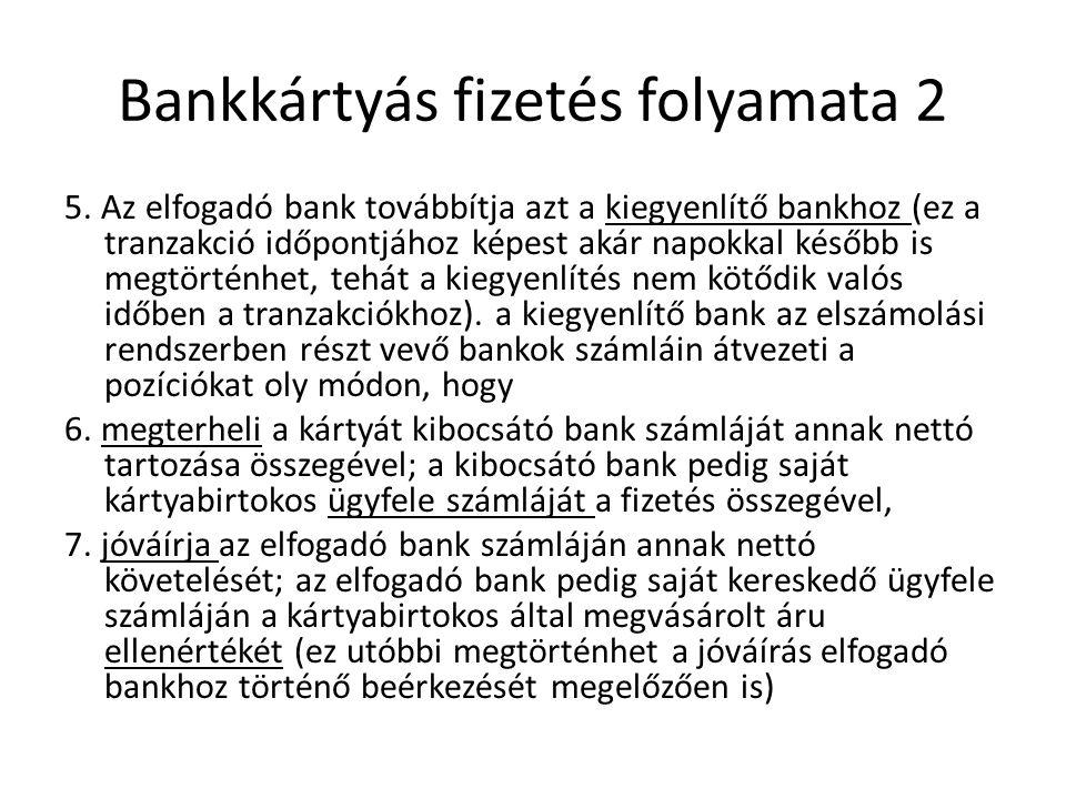 Bankkártyás fizetés folyamata 2