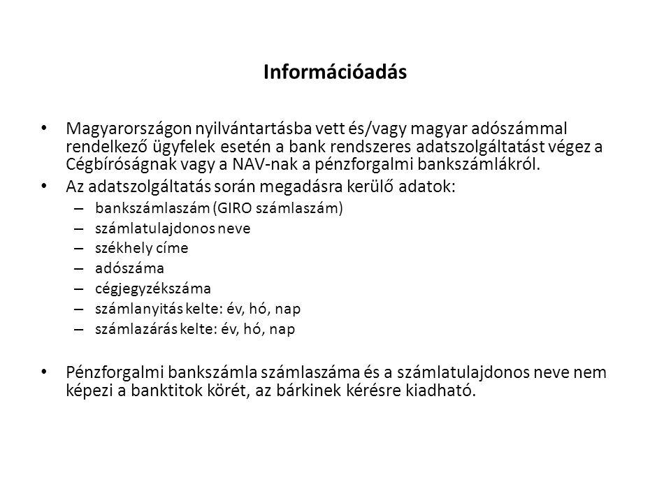 Információadás
