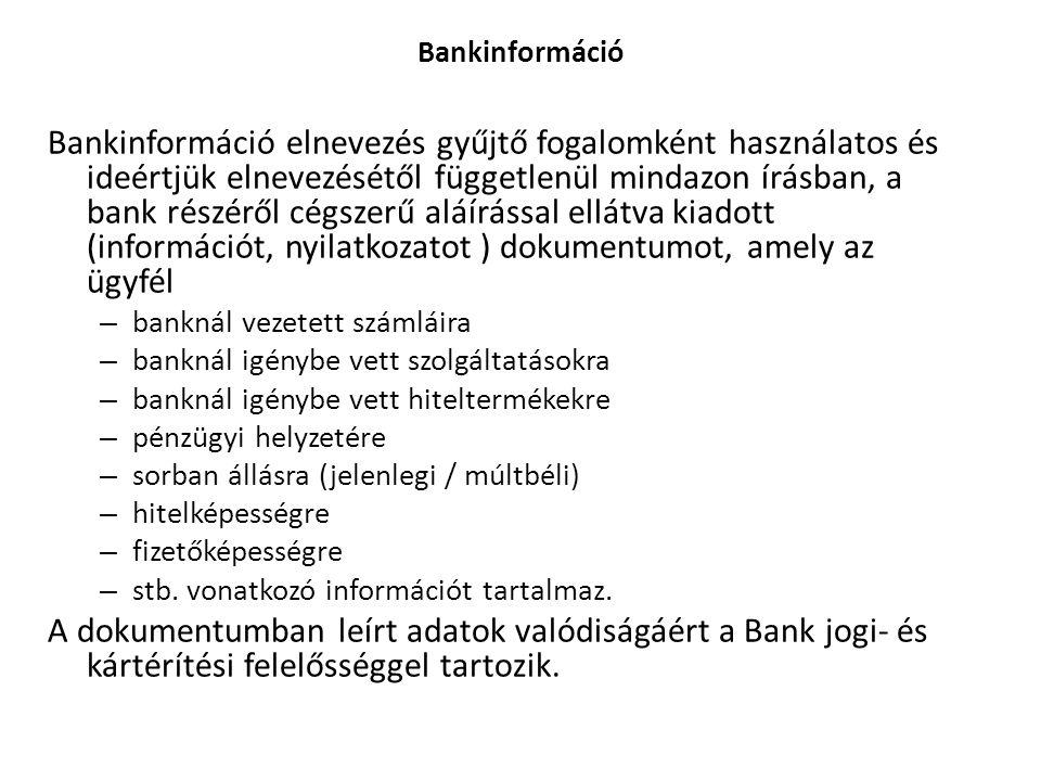 Bankinformáció