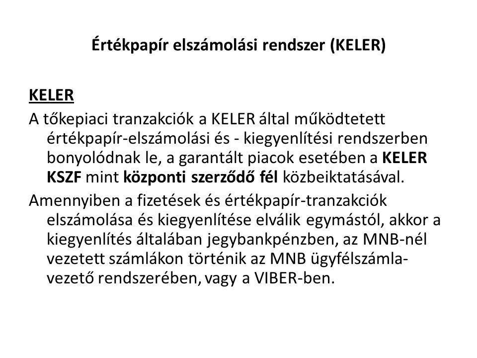 Értékpapír elszámolási rendszer (KELER)
