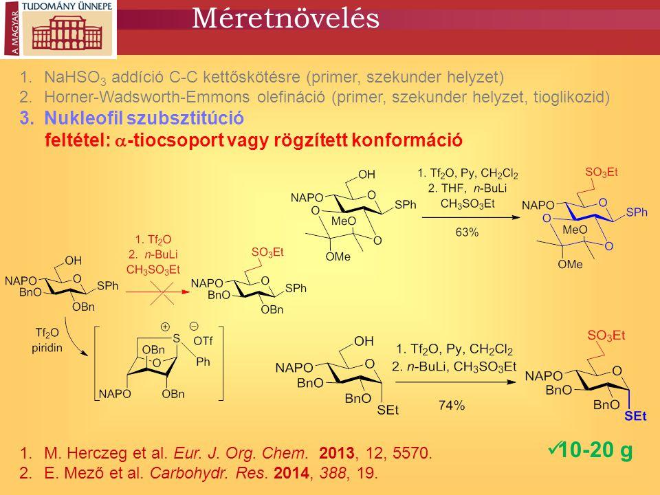 Méretnövelés 10-20 g Nukleofil szubsztitúció