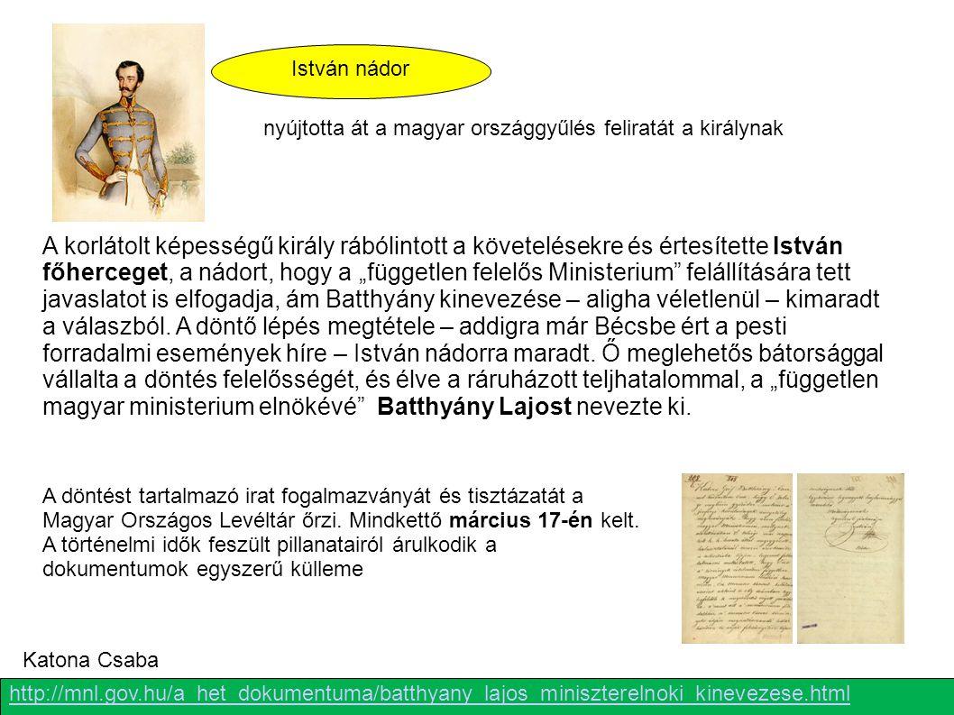 nyújtotta át a magyar országgyűlés feliratát a királynak