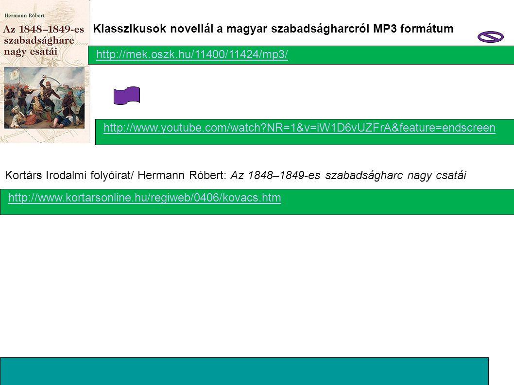Klasszikusok novellái a magyar szabadságharcról MP3 formátum