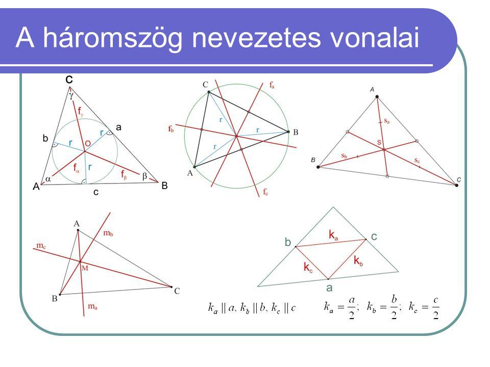 A háromszög nevezetes vonalai