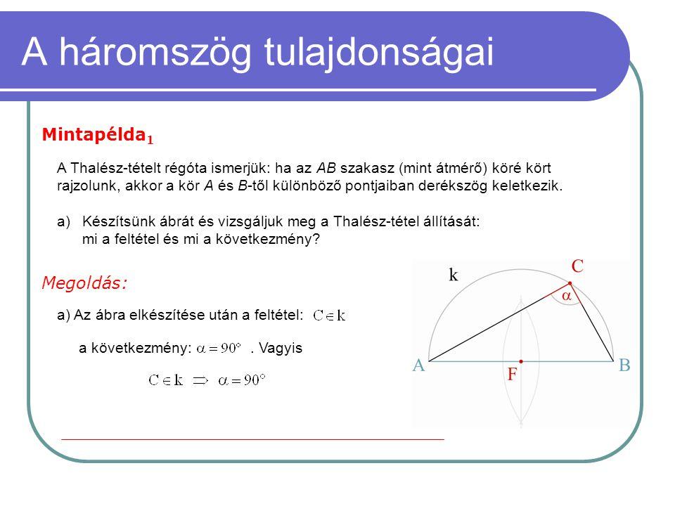 A háromszög tulajdonságai