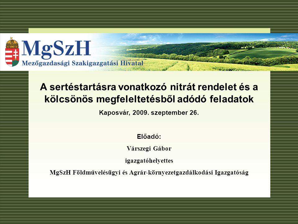 MgSzH Földművelésügyi és Agrár-környezetgazdálkodási Igazgatóság