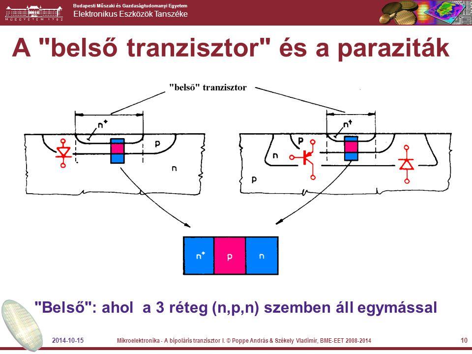 A belső tranzisztor és a paraziták