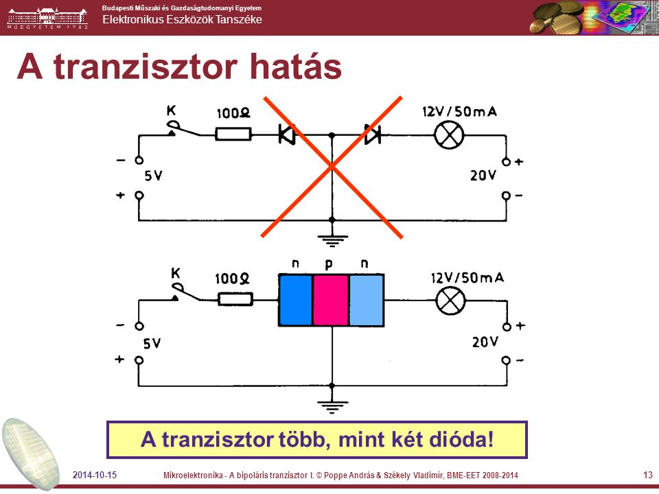 A tranzisztor több, mint két dióda!