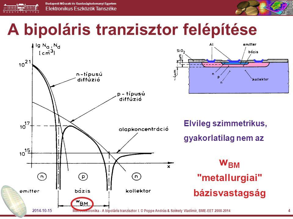 A bipoláris tranzisztor felépítése