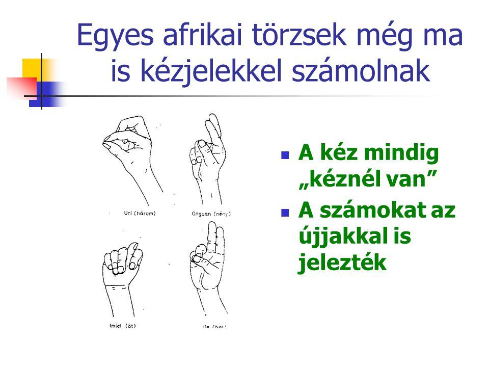 Egyes afrikai törzsek még ma is kézjelekkel számolnak
