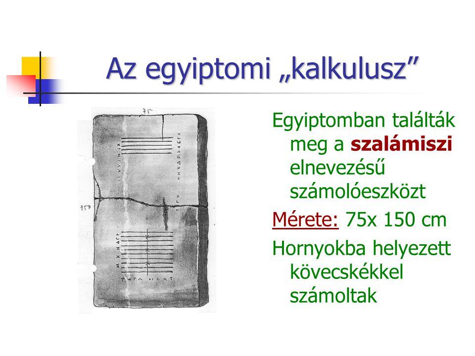 """Az egyiptomi """"kalkulusz"""