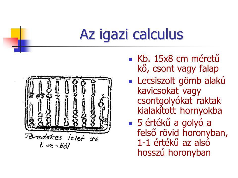 Az igazi calculus Kb. 15x8 cm méretű kő, csont vagy falap