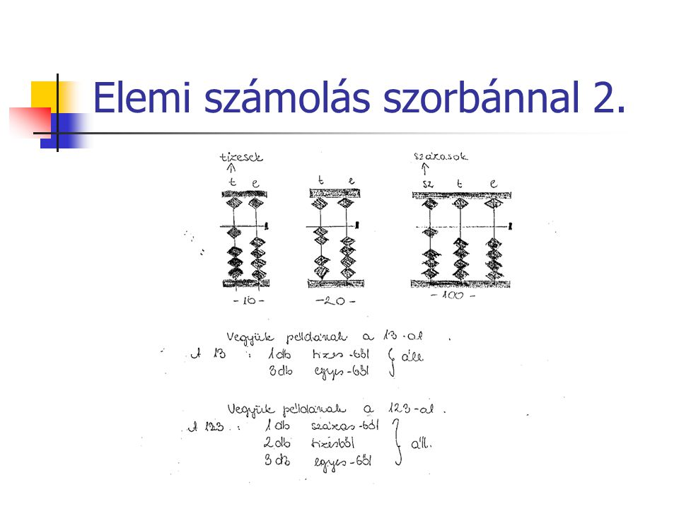 Elemi számolás szorbánnal 2.