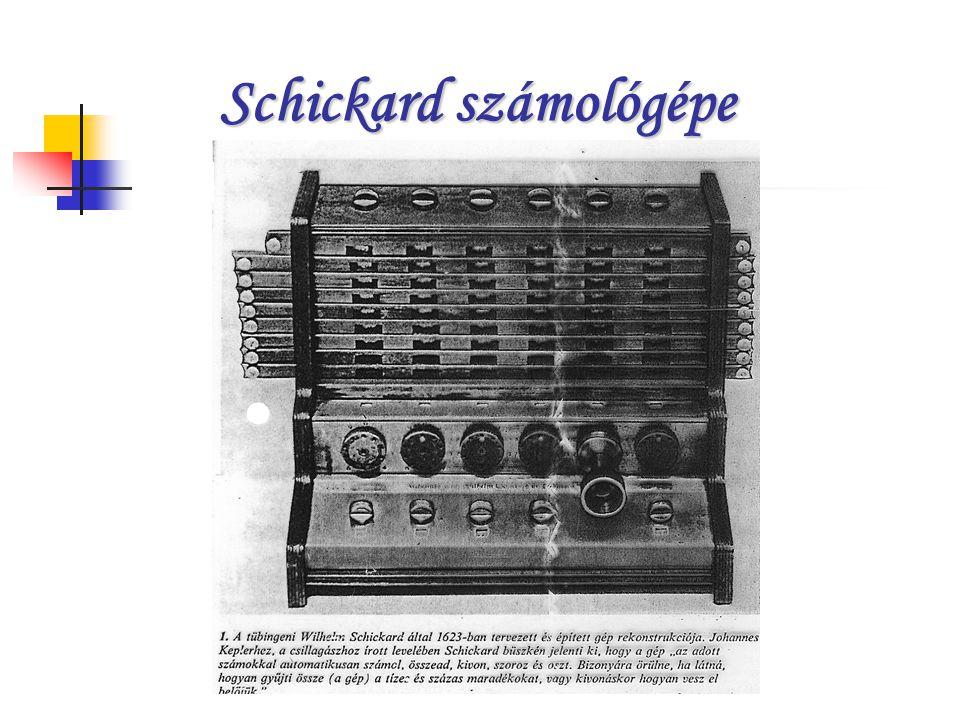 Schickard számológépe