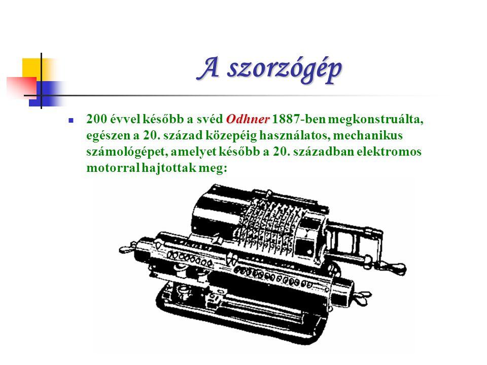 A szorzógép