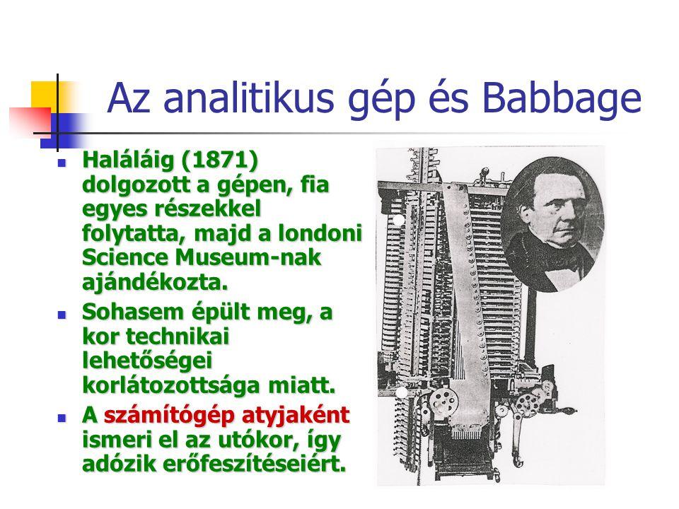 Az analitikus gép és Babbage
