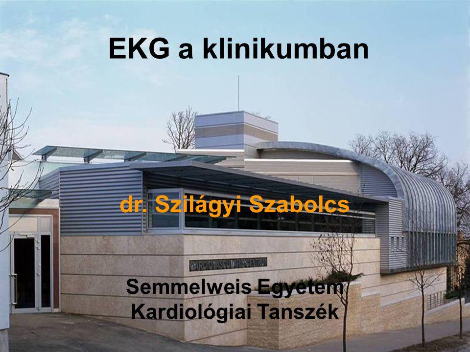 EKG a klinikumban dr. Szilágyi Szabolcs Semmelweis Egyetem