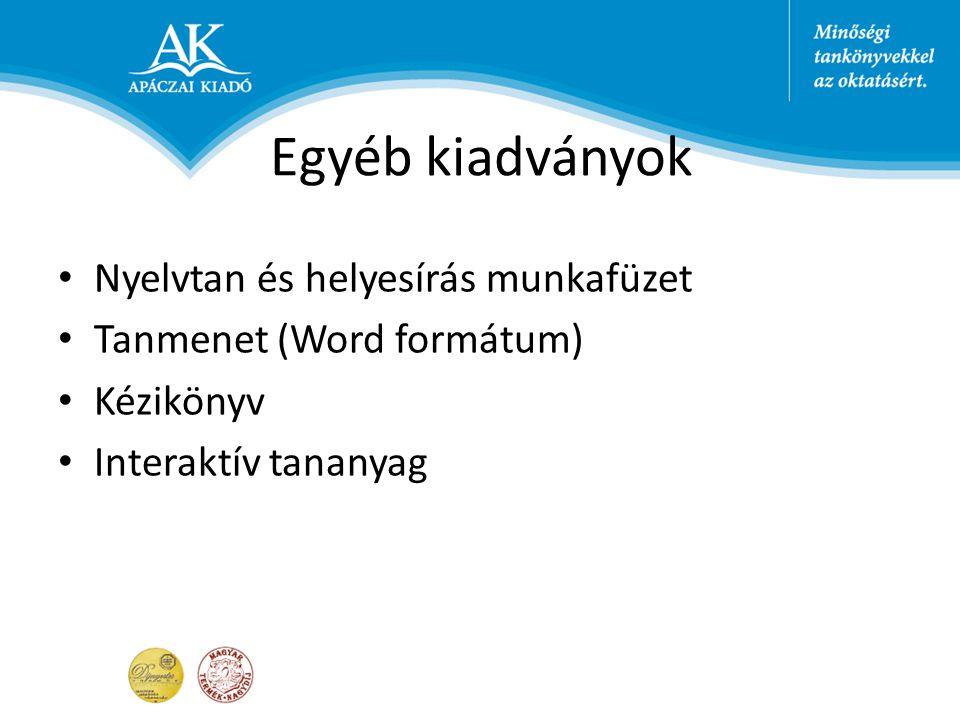 Egyéb kiadványok Nyelvtan és helyesírás munkafüzet