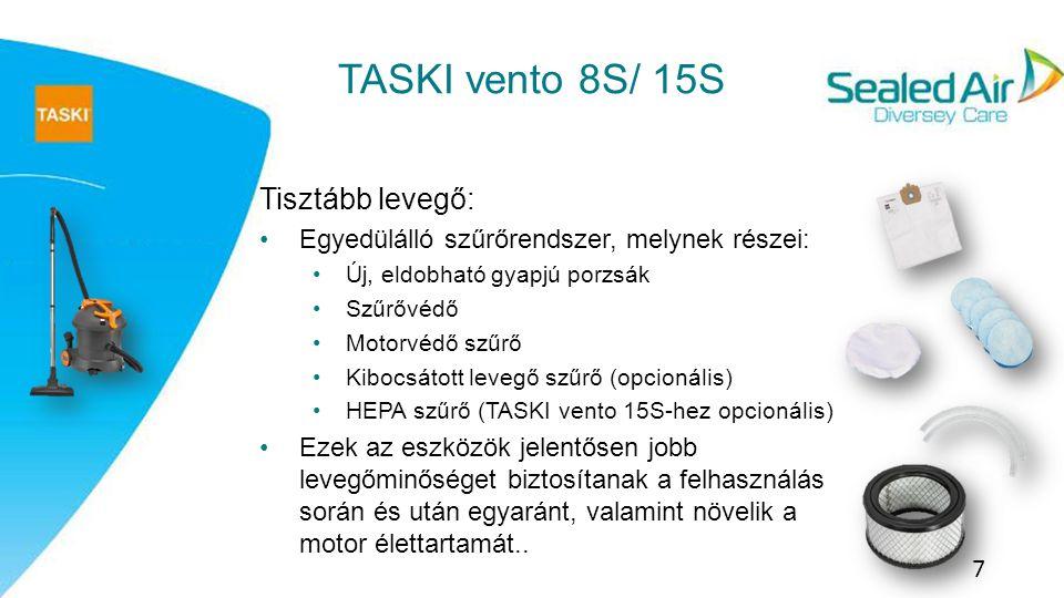 TASKI vento 8S/ 15S Tisztább levegő: