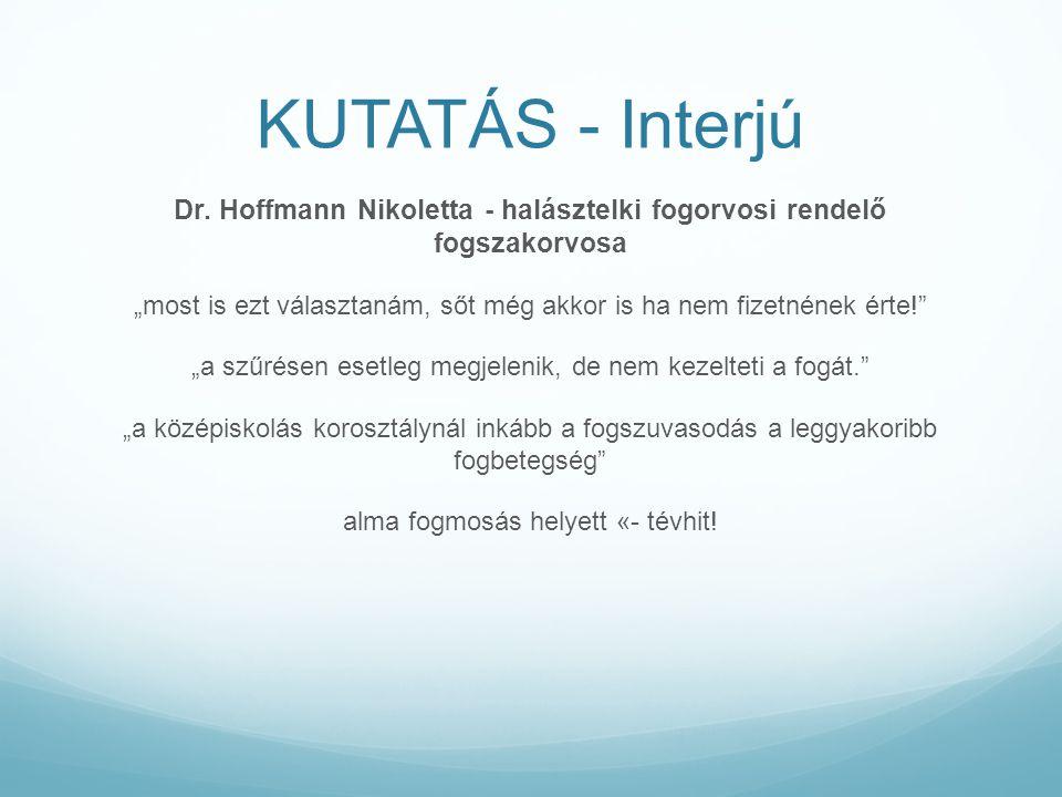 Dr. Hoffmann Nikoletta - halásztelki fogorvosi rendelő fogszakorvosa