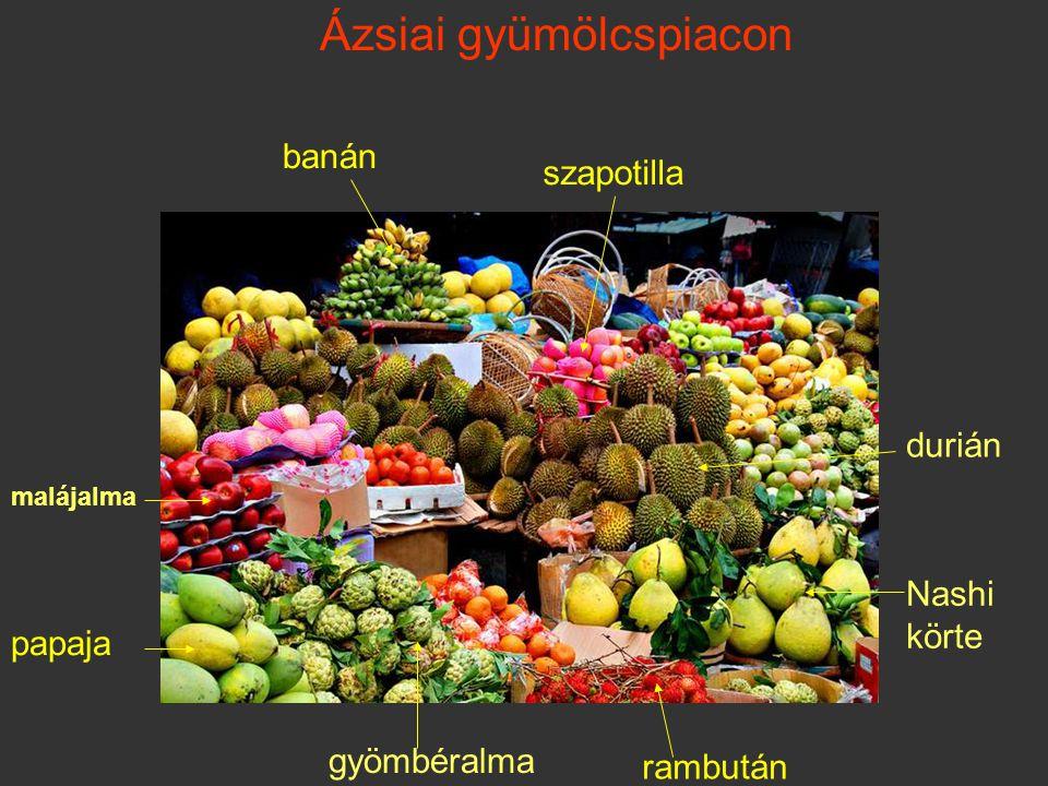 Ázsiai gyümölcspiacon