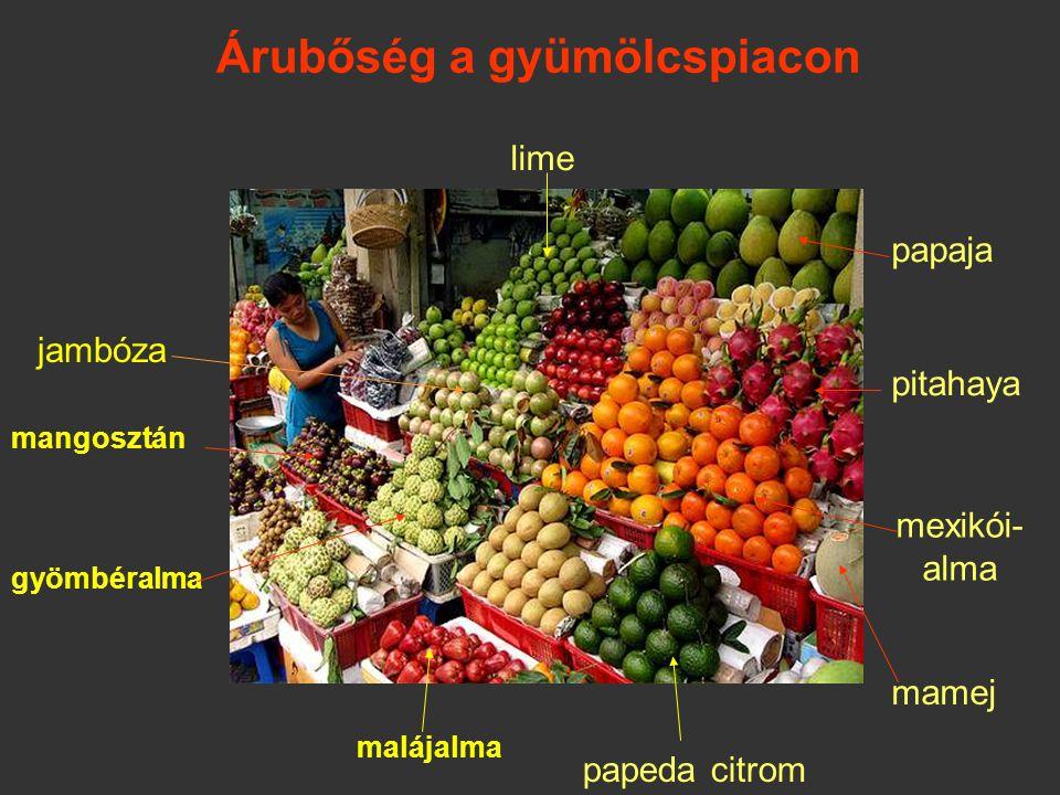 Árubőség a gyümölcspiacon