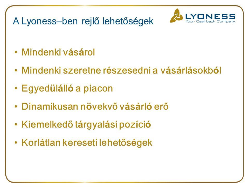 A Lyoness–ben rejlő lehetőségek