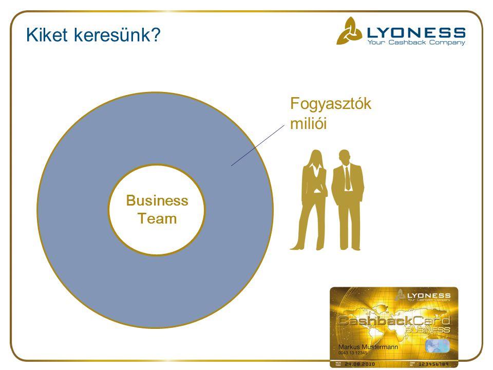 Kiket keresünk Fogyasztók miliói Business Team