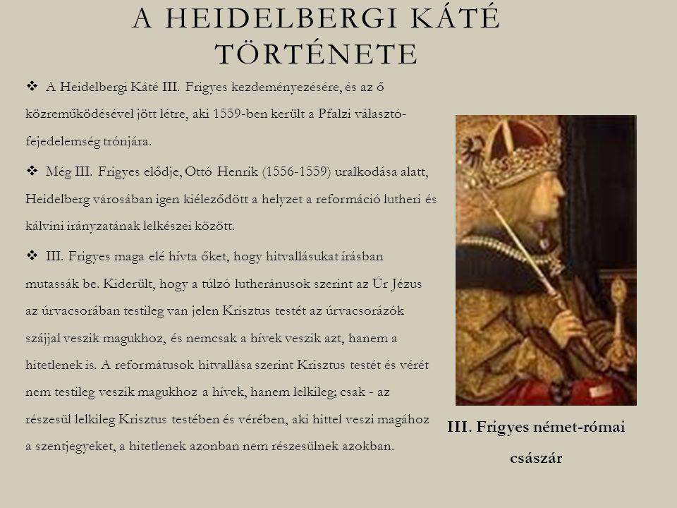 A heidelbergi káté története