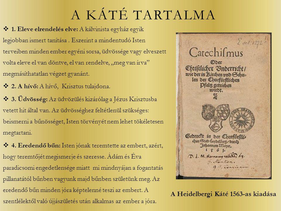 A Heidelbergi Káté 1563-as kiadása